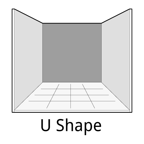U-shape exhibition stand