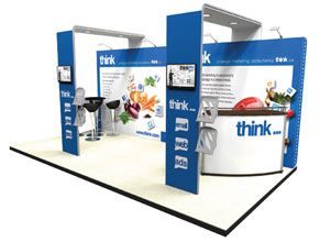 Exhibition stand showing arches
