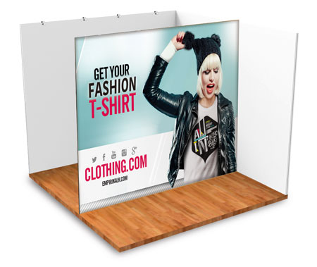 Graphics for trade show stands