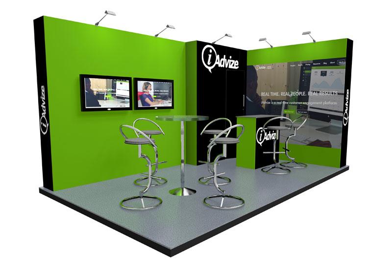 Corner Exhibition Stands Out : L shape u exhibition stands