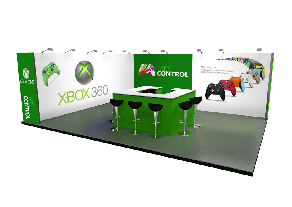 Expo Exhibition Stands Xbox : L shape u exhibition stands